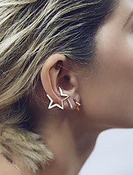 Earring Clip Earrings Jewelry Women Wedding / Party / Daily / Casual Alloy 1pc Gold