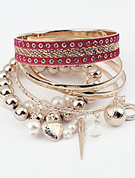 Cute / Casual Alloy / Imitation Pearl Stacked Bracelet