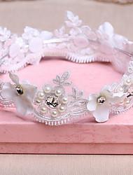 Couronnes Casque Mariage Dentelle/Or/Imitation de perle Femme Mariage