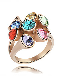 Vintage/Cute/Party Gold Plated/Alloy/Cubic Zirconia Multi Finger Ring
