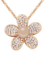 Pearl/Alloy/Resin Necklace Pendants Casual 1pc