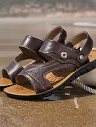 2015 summer new sandals men leather thong sandals slippers flip-flops