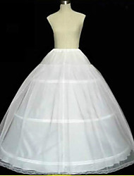 Slips A-Line Slip Ball Gown Slip Chapel Train Floor-length 2 Tulle Netting White