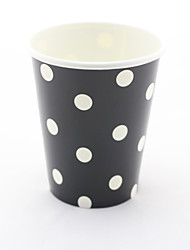 9oz 12шт партии эко-горошек питьевой бумажные стаканчики