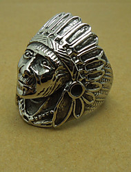 Men's Ancient Indian Chief Titanium Ring