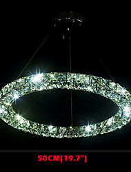 LED Crystal Pendant Light Lighting Modern Single D50CM Three Sides K9 Crystal Indoor Ceiling Lights Lamp Fixtures