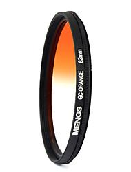 MENGS® 62mm Graduated ORANGE Filter For Canon Nikon Sony Fuji Pentax Olympus Etc Digital And DSLR Camera