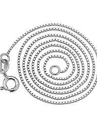 KIKI 925 sterling silver necklace box chain