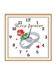 horloge Meian point de croix 43 x 43 x 1 cm