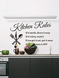 Wall Stickers Wall Decals, Style Kitchen Rules English Words & Quotes PVC Wall Stickers