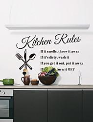 stickers muraux autocollants de mur, cuisine règles mots anglais&cite muraux PVC autocollants