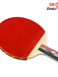 Double Fish 4A-E Basswood Pen Handle ITTF Approved Rubber Table Tennis Paddle