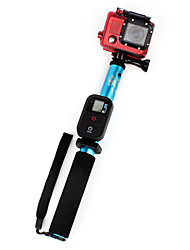 Comouflage Blue Telescoping Monopod with Mount Adapter for GoPro and Cell Phone