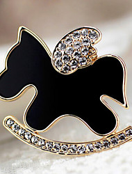 Lucky Star Women's Fashion Rhinestone Pony Brooch