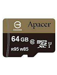 Apacer uhs-i cartão de memória microSDHC de 64GB u3 class10 R95 / W85