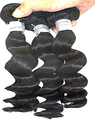 "3Pcs Lot 10""-28"" Hot Sales Peruvian Human Hair Extensions Unprocessed Natural Black Straight 6A Grade Remy Hair"