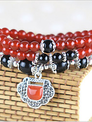 Bracelet Collection personnelle de perle Agate Onyx Femme
