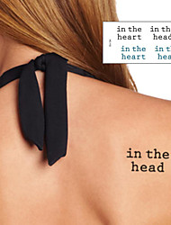 Letter In the Heart Tattoo Stickers Temporary Tattoos(1 Pc)