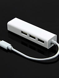 tipo de interface USB 2.0-c + adaptador USB 2.0 lan hub port x 3