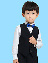 Black/White Serge Ring Bearer Suit - 4 Pieces