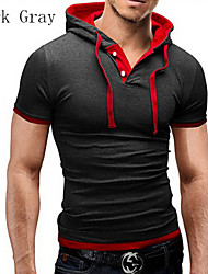Men's Short Sleeve Polo , Cotton/Cotton Blend Casual/Work/Plus Sizes Pure
