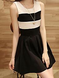 Women's Casual/Work Elegant Sleeveless Above Knee Slim Dress