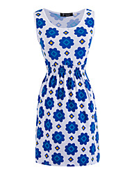 Women's Sleeveless Print Dress
