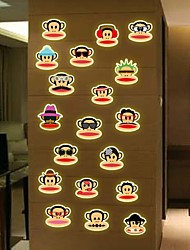 Luminous Wall Stickers Wall Color Cartoon Big Mouth Monkey PVC Wall Stickers