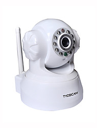 TYCOCAM TY-8103WE 0.3Mega Pixel Wireless IP PTZ Camera with  Motion Detection with 2-way Audio Day/Night MP Access White