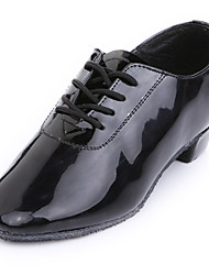 Men's/Kids' Dance Shoes Belly/Latin/Dance Sneakers/Modern/Flamenco/Samba Leatherette Flat Heel Black