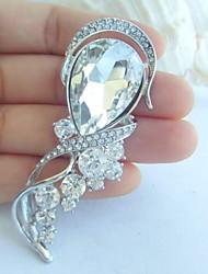 Wedding Accessories Silver-tone Clear Rhinestone Crystal Bridal Brooch Wedding Deco Flower Wedding Brooch Bouquet