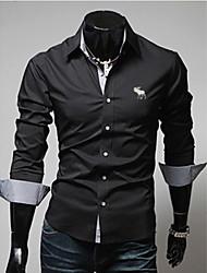 Hugo  Men's Casual Shirt Collar Long Sleeve Casual Shirts