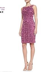 MILANLISA®Women's2015New Embroidery Sleeveless T-shirt Heavy Slim Dress