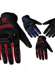 Motos luvas Dedo Total Náilon/Lycra/ABS M/L/XL Vermelho/Preto/Azul