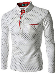 Men's Fashion Long Sleeve Shirt ,Dot printing