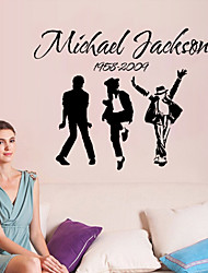 Wall Stickers Wall Decals Style Jackson Band English Words & Quotes PVC Wall Stickers