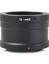mengs® t2-m4 / 3 monture d'objectif anneau adaptateur pour t2 t lentille pour Olympus E-P1 et Panasonic G1 gf1 corps gx1- m4 / 3 de la
