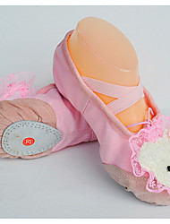 Children's Dance Shoes Ballet Fabric Flat Heel Pink