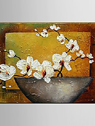 Oil Painting Phalaenopsis Amabilis Flower Hand Painted Canvas with Stretched Framed