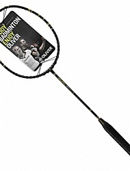 Men/Unisex/Women/Kids Badminton Rackets Low Windage/High Elasticity/Durable Black 1 Piece Carbon Fiber