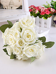 White Rose Flower Bride Bridal Wedding Bouquets Accessaries Party Decor for Wedding