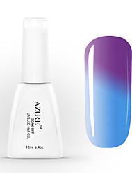 gel uv azul absorver a unha polonês cor mudando com temperatura 37 # -48 # (12 ml, 48 cores)