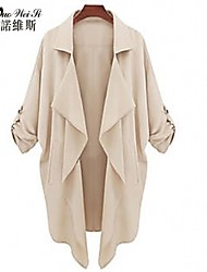 NUO WEI SI®Women's Simple Causal Large Yard Coat