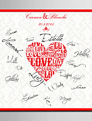 E-HOME® Personalized Signature Canvas Frame-Love (Includes Frame) Coral Wedding