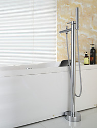 Contemporary Handshower Included/Floor Standing Tub Brass Chrome