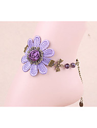 Purple dream small fresh lace Anklet adorable foot ornaments