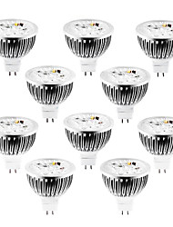 4w gu5.3 (mr16) projecteur led mr16 320 lm chaud / froid / blanc naturel dimmable dc / ac 12 v 10 pcs