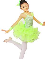 Vestidos/Auriculares Con Micrófono (Verde claro , Nylón/Spandex/Lentejuela/Tul , Ballet) - Ballet - para Mujer/Niños