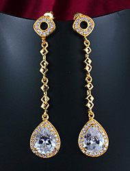 Hot Selling Products Party/Casual Gold Plated Drop Earrings Simple Design