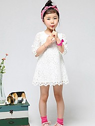 Kid's Casual/Lace/Cute Dresses (Cotton Blend/Lace)